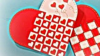 getlinkyoutube.com-San Valentin: Cómo hacer una tarjeta corazón. Heart card.