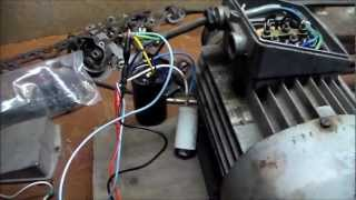 getlinkyoutube.com-Induction Motor as Generator! 500v @ 90Hz into Universal Motor!!