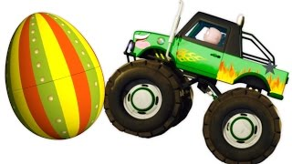 getlinkyoutube.com-Five Little Babies Driving Monster Trucks | Zool Babies Surprise Eggs | Nursery Rhymes Collection