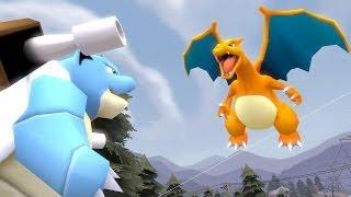 getlinkyoutube.com-POKÉ-BUDS: Ep.1 - Blastoise and Charizard FIGHT! (Pokemon SFM)
