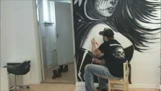 getlinkyoutube.com-Wall painting in the studio part 1