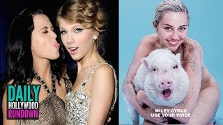 getlinkyoutube.com-Miley Naked With A Pig - Katy Perry Dissing Taylor In 1984 Track? - Ariana Pissed At Fans? (DHR)