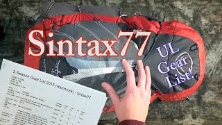 My Ultralight Backpacking Gear List - Sintax77