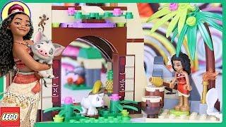 getlinkyoutube.com-LEGO Disney Moana's Island Adventure Build Princess Review Silly Play - Kids Toys