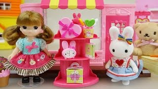 Baby Doll and Rabbit Fancy stationary shop toys play