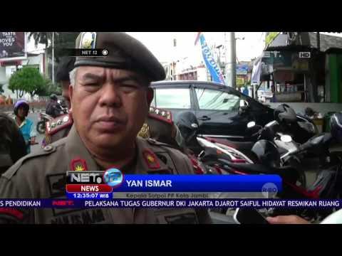 Aksi Rebutan Kunci Motor Oknum PNS dengan Satpol PP NET12