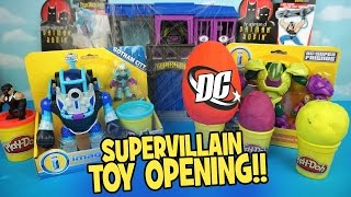 getlinkyoutube.com-Imaginext Batman Toys & HUGE Play-doh Surprise Eggs with DC Supervillains Batman Toys by KidCity