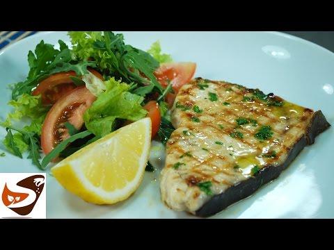 Pesce arrostito sulla piastra