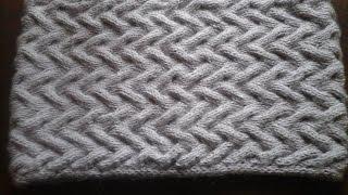 getlinkyoutube.com-Как связать снуд спицами  Образец Узор&How to tie a scarf pattern