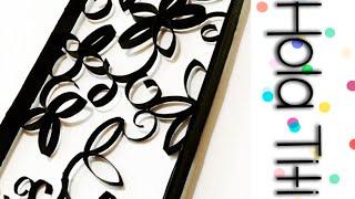 getlinkyoutube.com-Cómo hacer un cuadro decorativo con rollos de papel de baño - Hola Titi DIY