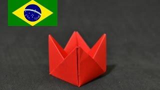 getlinkyoutube.com-Origami: Forminha para doces - Instruções em português PT BR