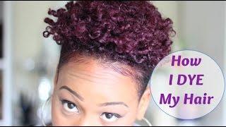 getlinkyoutube.com-102. How I colour My Natural Tapered Hair | burgundyPurple| QueenTeshna