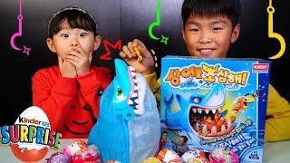 getlinkyoutube.com-라임 상어를 조심해! 정우 몰카에 당하다? 복불복 보드게임 챌린지 서프라이즈에그 장난감 놀이 LimeTube & Toy
