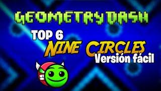 getlinkyoutube.com-TOP 6 Niveles Nine Circles If Was LVL1 - Versiones fáciles -(Geometry Dash)