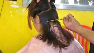 getlinkyoutube.com-Cutting her long hair off
