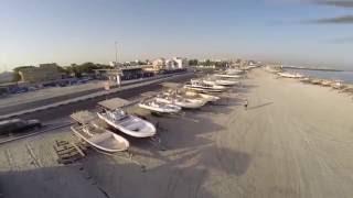 Ajman Shrajah Aerial View