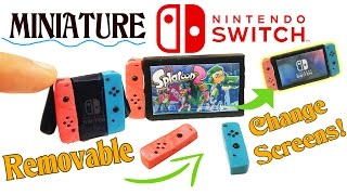 getlinkyoutube.com-DIY MINIATURE NINTENDO SWITCH POLYMER CLAY TUTORIAL | How to make dollhouse diy craft splatoon 2