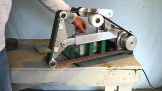 getlinkyoutube.com-Zoomie Products Model 66 Belt Grinder