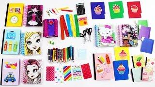 getlinkyoutube.com-DIY | DOLL SCHOOL SUPPLIES  pencils calculator notebook scissors etc