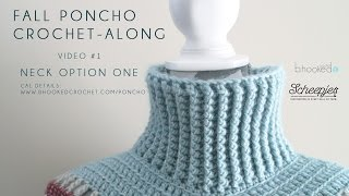 getlinkyoutube.com-Fall Poncho CAL Neck Option One Right Hand