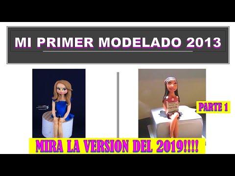 Como modelar una mujer en pasta de azucar 1 / how to make a woman cake topper 1