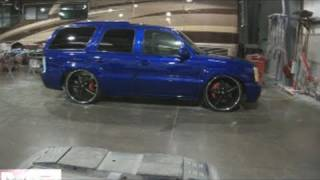 "getlinkyoutube.com-Candy Paint Update - Hoopty Escalade Sitting on 26"" AZA Icon Wheels Wilwood"