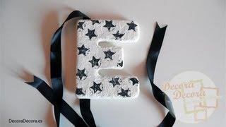 getlinkyoutube.com-Cómo hacer letras para decorar.