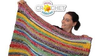 getlinkyoutube.com-Easy Stash Buster Crochet Blanket - 2 Style Scrapghan!