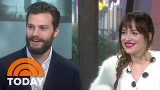 getlinkyoutube.com-Fifty Shades' Jamie Dornan, Dakota Johnson Talk Being Naked On Set | TODAY