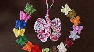 getlinkyoutube.com-Como hacer preciosas mariposas de colores encadenadas en crochet.