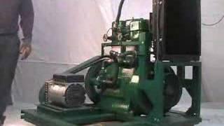 getlinkyoutube.com-Starting Listeroid Diesel Generator (Radiator-Cooled)