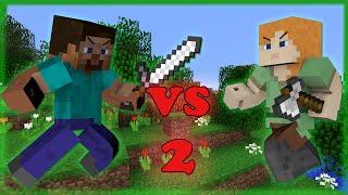 getlinkyoutube.com-Alex VS Steve - Minecraft PART 2