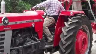 getlinkyoutube.com-massey ferguson 178 with hay turner