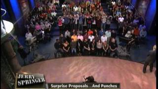 getlinkyoutube.com-Surprise Proposals ... And Punches (The Jerry Springer Show)