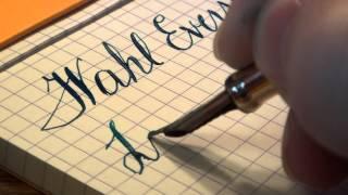 getlinkyoutube.com-Vintage Gold-Filled Wahl Eversharp Fountain pen #3 Flexible Nib