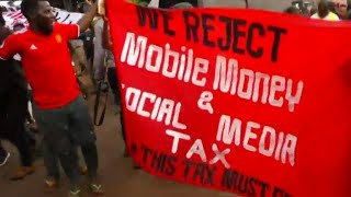 Protests over Uganda's tax on social media