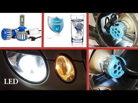How to install LED bulbs H7 in dipped beam Mercedes W211, W219/Installation LED H7 6000K Mercedes