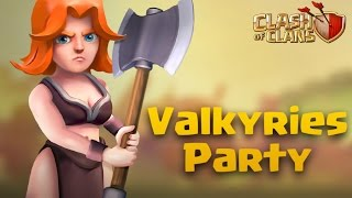 getlinkyoutube.com-TH9 War Attack | Valkyries Party Part 33 | Clash Of Clans