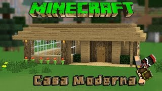 getlinkyoutube.com-Minecraft-Casa Moderna De Madera /Facil / Tutorial 1.8.1