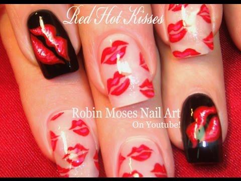 2 Nail Art Tutorials   DIY Easy Nail Art for Beginners   Red Hot Kiss Nails