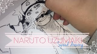 getlinkyoutube.com-Speed drawing - HAPPY BIRHTDAY NARUTO UZUMAKI! | Inktober 2016