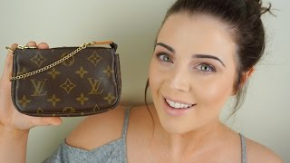 getlinkyoutube.com-Pre-Loved Louis Vuitton REVEAL! (Mini Pochette Monogram)