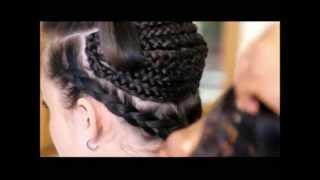 getlinkyoutube.com-CAUCASIAN TRACK EXTENSIONS - BIG HAIR NO-GAP CORNROWS - KIM KARDASHIAN INSPIRED