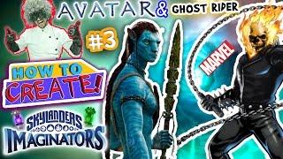 getlinkyoutube.com-SKYLANDERS IMAGINATORS CREATION of AVATAR Movie Alien & MARVEL Ghost Rider (How to Create Recipe #3)
