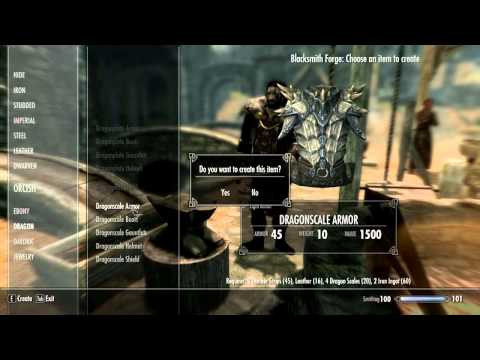 Skyrim How To Get The Best Light  Armor In Skyrim! Dragon Scale Armour