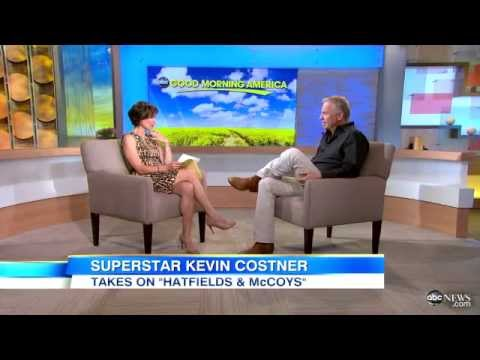 Kevin Costner Discusses 'Hatfields & McCoys' On Good Morning America