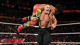 getlinkyoutube.com-John Cena vs. Xavier Woods - United States Championship Match: Raw, Sept. 28, 2015