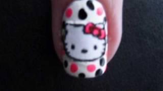 getlinkyoutube.com-Hello Kitty Nails