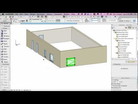 ArchiCAD Basic Training Lesson 3 | Selection, Navigation & Basic Editing | QuickStart Course Excerpt