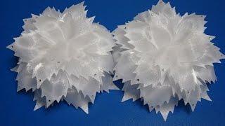 getlinkyoutube.com-МК бантиков из ткани.Гильоширование. Большие банты в школу на 1сентября.